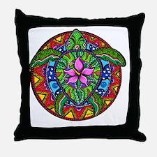 Sea Turtle Painting Throw Pillow