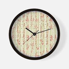 birch trees curtain Wall Clock