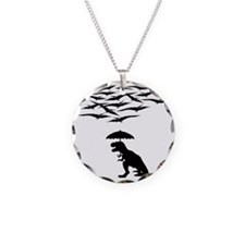 T-Rex vs the Pterodactyls Necklace