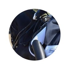 "Friesian Sporthorse dressage 3.5"" Button"