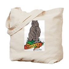 Montana Bear Tote Bag