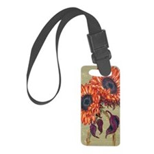 uia Red Sunflowers snap Luggage Tag
