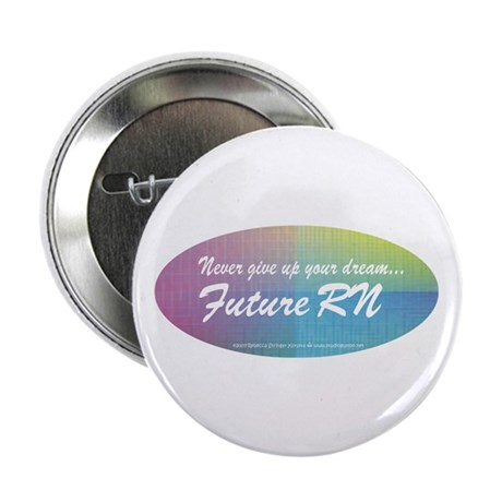 """Never give up! 2.25"""" Button (10 pack)"""