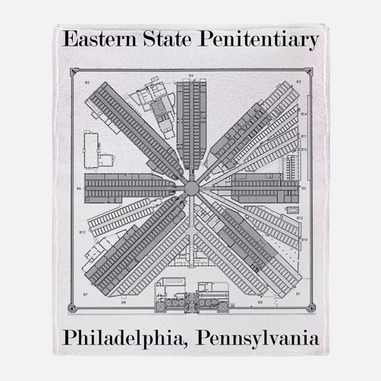 Eastern State Penitentiary Map Throw Blanket