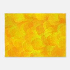 Abstract rose pattern 5'x7'Area Rug