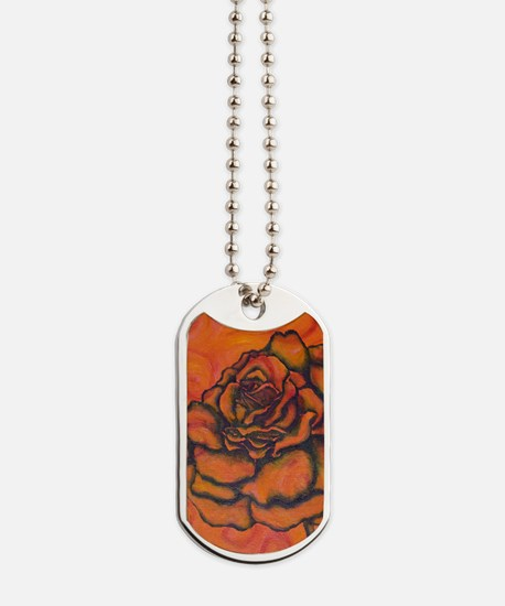 uiad Rose Dog Tags