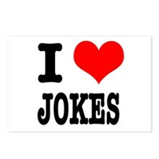 I Heart (Love) Jokes Postcards (Package of 8)