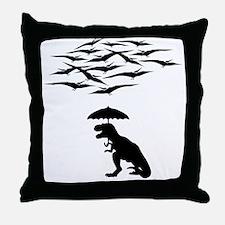 T-Rex vs the Pterodactyls Throw Pillow
