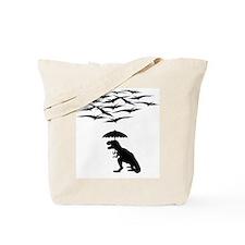 T-Rex vs the Pterodactyls Tote Bag