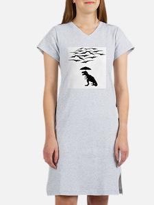 T-Rex vs the Pterodactyls Women's Nightshirt