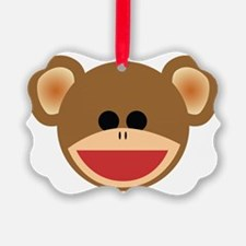 Wild Sock Monkey Child Ornament