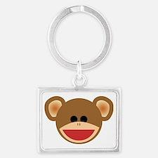 Wild Sock Monkey Child Landscape Keychain