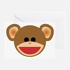 Wild Sock Monkey Child Greeting Card