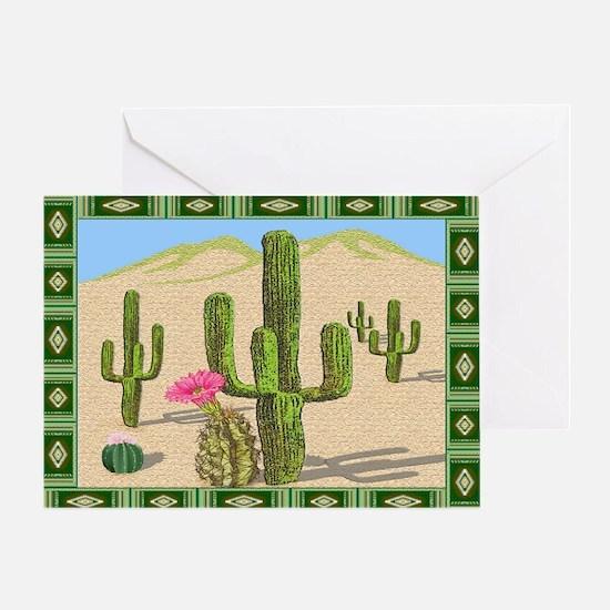 desert cactus area rug Greeting Card