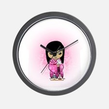 Sakura Girls Day Dolls womens all over  Wall Clock