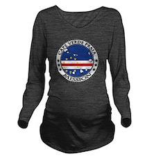 Cape Verde Praia LDS Long Sleeve Maternity T-Shirt