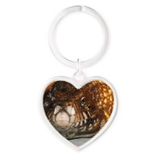 Rex the Tegu Heart Keychain