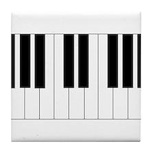 Piano Keyboard Tile Coaster