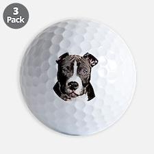 Cartoon Pit Pup Golf Ball