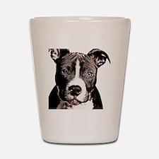 Cartoon Pit Pup Shot Glass