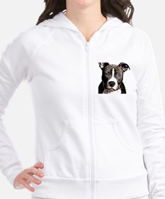 Cartoon Pit Pup Fitted Hoodie