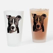 Cartoon Pit Pup Drinking Glass