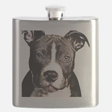 Cartoon Pit Pup Flask