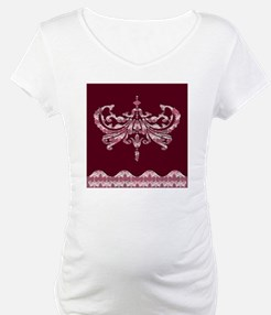 Damask - Cranberry Wishes Sticky Shirt