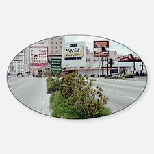 Downtown Miami 1970s Sticker (Oval)