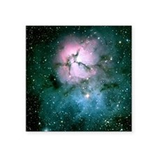"Trifid Nebula Square Sticker 3"" x 3"""