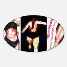 Fibro Hurts Trio Sticker (Oval)
