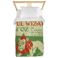 Vintage Wizard Of Oz Book Cover Twin Duvet