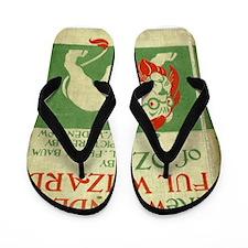Vintage Wizard Of Oz Book Cover Flip Flops