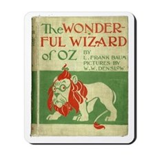 Vintage Wizard Of Oz Book Cover Mousepad