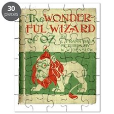 Vintage Wizard Of Oz Book Cover Puzzle