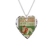 Vintage Wizard Of Oz Book Cov Necklace