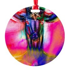 Psychedelic Baphomet Ornament