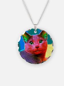Pop Cat Art Design Necklace