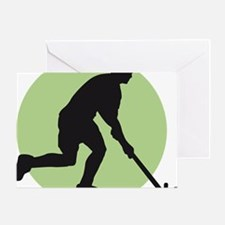 field hockey player Greeting Card