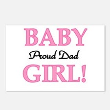 Baby Girl Proud Dad Postcards (Package of 8)