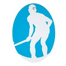 field hockey player Oval Ornament