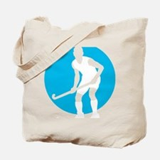field hockey player Tote Bag