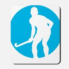 field hockey player Mousepad