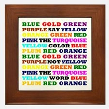 The Color Conundrum Framed Tile
