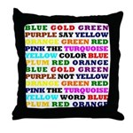 The Color Conundrum Throw Pillow