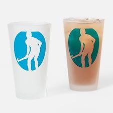 field hockey player Drinking Glass
