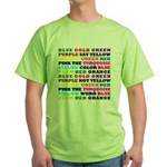 The Color Conundrum Green T-Shirt