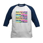 The Color Conundrum Kids Baseball Jersey