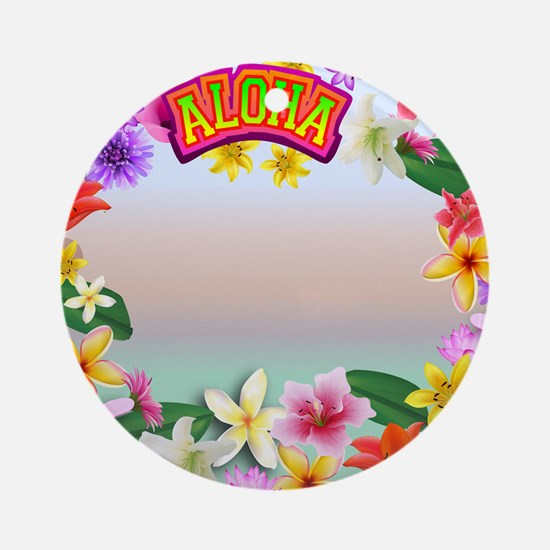 Hawaii frame Round Ornament