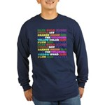 The Color Conundrum Long Sleeve Dark T-Shirt